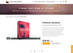 FCPX - ProIntro Duotone - Pixel Film Studios Plugin