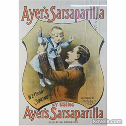 kovels, antiques, collectibles, advertising, ayer's sarsaparilla