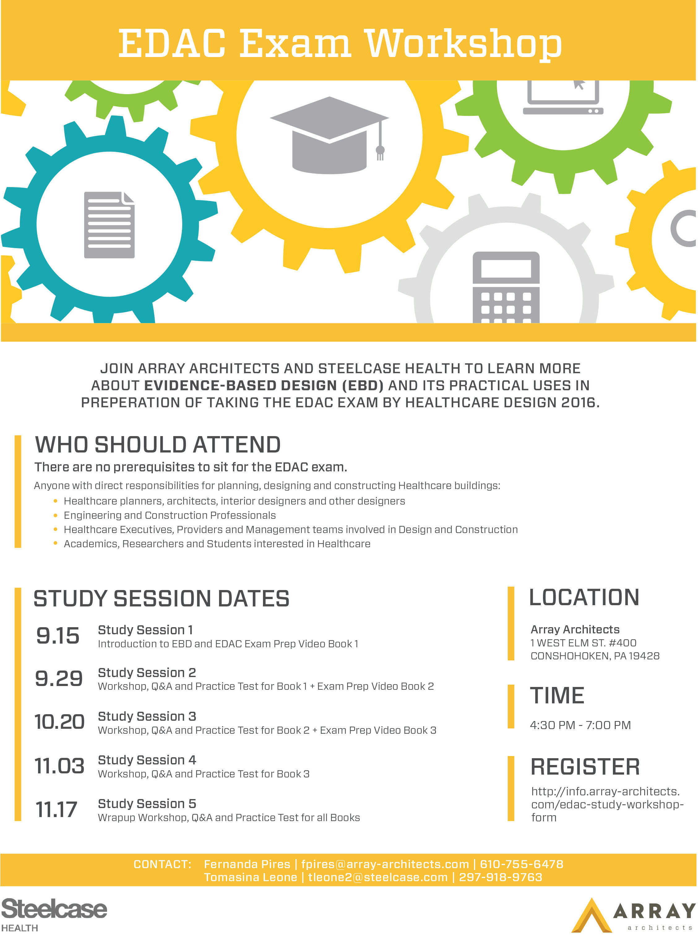 Evidence Based Design Study Sessions Announced