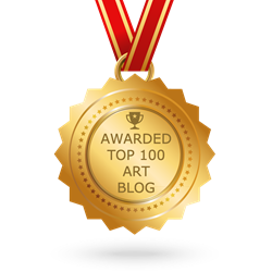 Online badge for top 100 art blog award