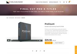 FCPX - ProCount - Pixel Film Studios Plugin