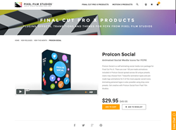 FCPX Plugin - ProIcon Social - Pixel Film Studios