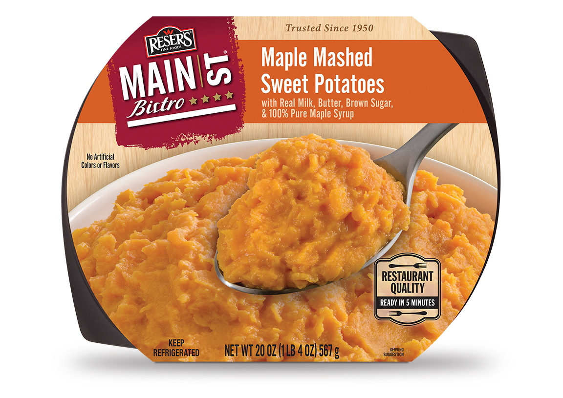 """... New """"Main St. Bistro Maple Mashed Sweet Potatoes"""" Side Dish"""