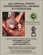 Poster for 3rd Annual Pongo Environmental Awards and Fundraiser