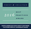 Frost & Sullivan Honors BarTender® with Food Safety Software Customer Service Leadership Award