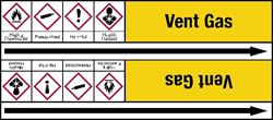 Example of pipemarking identification from the initial draft of ISO 20560