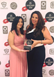 Maria Chronopoulou (left) and CEO Maria Avgitidis (right) celebrate their US Dating Award win.