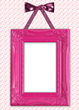 This invention is a small slip that can go over a picture frame. It is made out of fabric, elastic, ribbons, bows, trinkets, and greenery and is held to the frame with a velcro.
