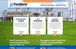 Screen Shot of Paratherm.com Website Home Page