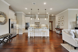 A kitchen in a new home built by Level Homes near Baton Rouge, LA