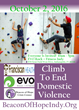 Climb To End Domestic Violence On October 2nd At EVO Rock + Fitness Indy To Raise Awareness And Benefit Beacon of Hope Crisis Center.