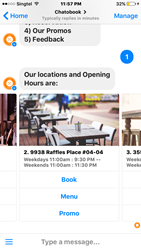 Restaurant Chatbot Reservation