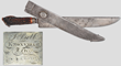 Henry Schively Bowie knife with carved ivory grip, estimated at $75,000-125,000.