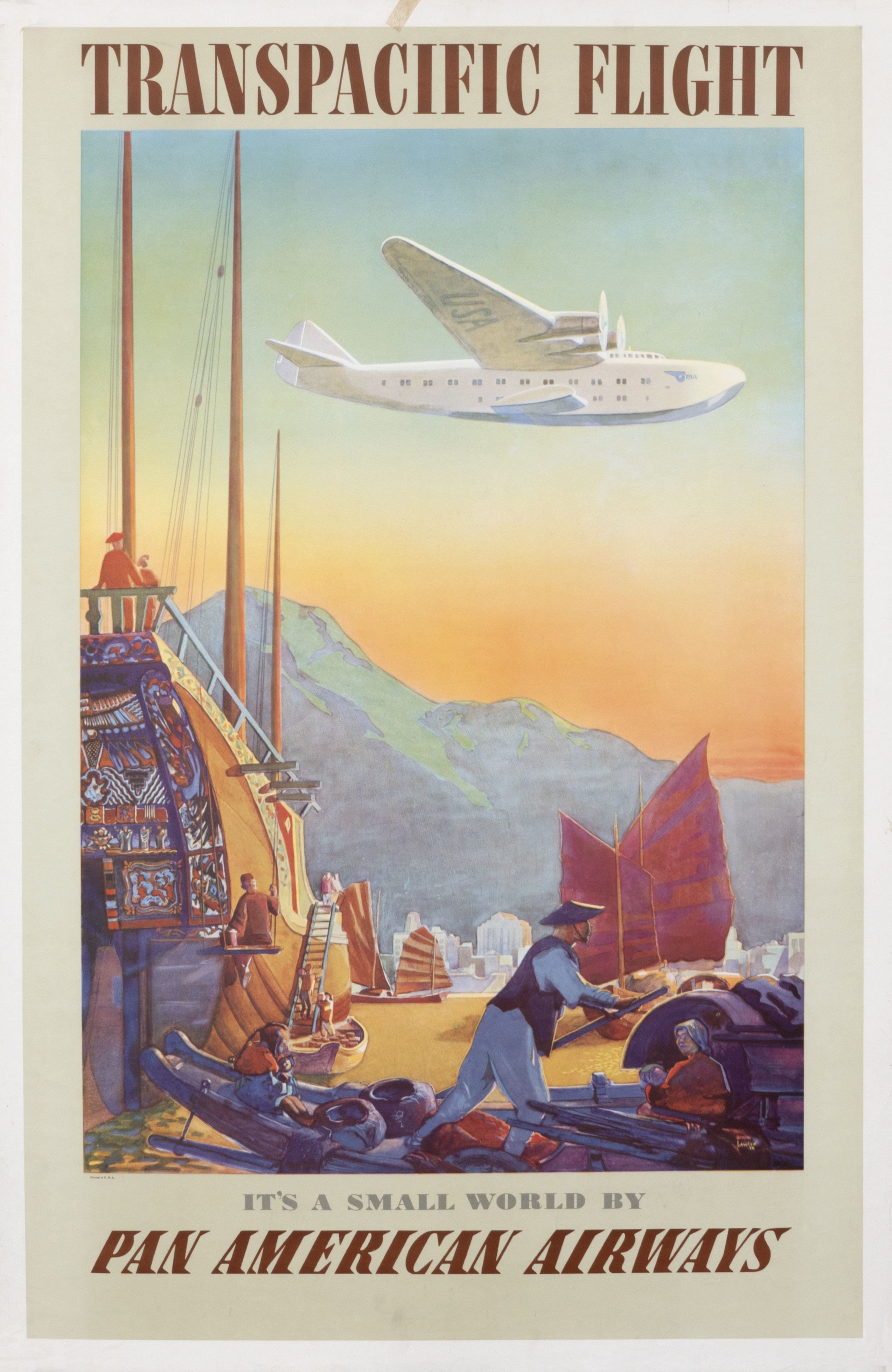 The Golden Age Of Travel Is Captured In Quot Romance Of The Airways Pan