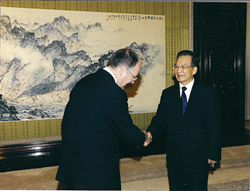Kerry Brown and Wen Jiabao