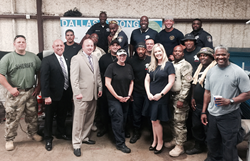 FirstService Residential presented banner and luncheon in honor of officers
