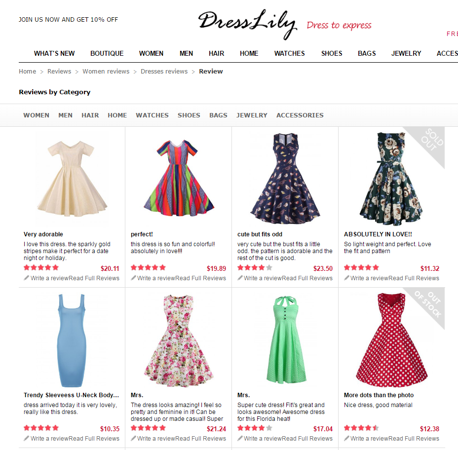 c7f24bbd61c DressLily Announces Real Product Photos and Review System Page