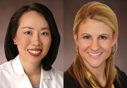 Dry eye experts Drs. Cynthia Jun and Christine Luzuriaga