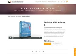 FCPX Plugin - ProIntro Web Volume 5 - Pixel Film Studios