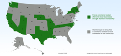 US map of states with free e-commerce
