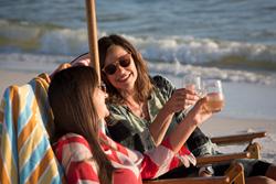 Two moms celebrate a milestone birthday during their Destin, Florida beach vacation
