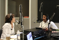 Kerry McCoy of Up Your Business with Kerry McCoy and guest R.J. Martino during the 9/16/2016 on air business talk show broadcast from KABF 88.3 FM, Little Rock, Ark.