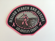 Malibu Search and Rescue Pink Patch