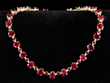 14K Yellow Gold, Diamond and Ruby Necklace