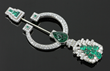 Ladies' Art Deco Diamond and Emerald Jabow