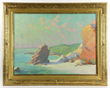 Frank Reed Whiteside (American, 1866-1929), California coast, in custom hand carved gilt frame
