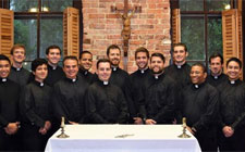 A few of the novices entering the Jesuits in 2016