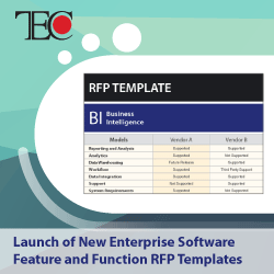 TEC Announces Launch of New Enterprise Software Feature and Function RFP Templates