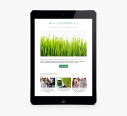 A new informational website about the benefits of Chlorophyll