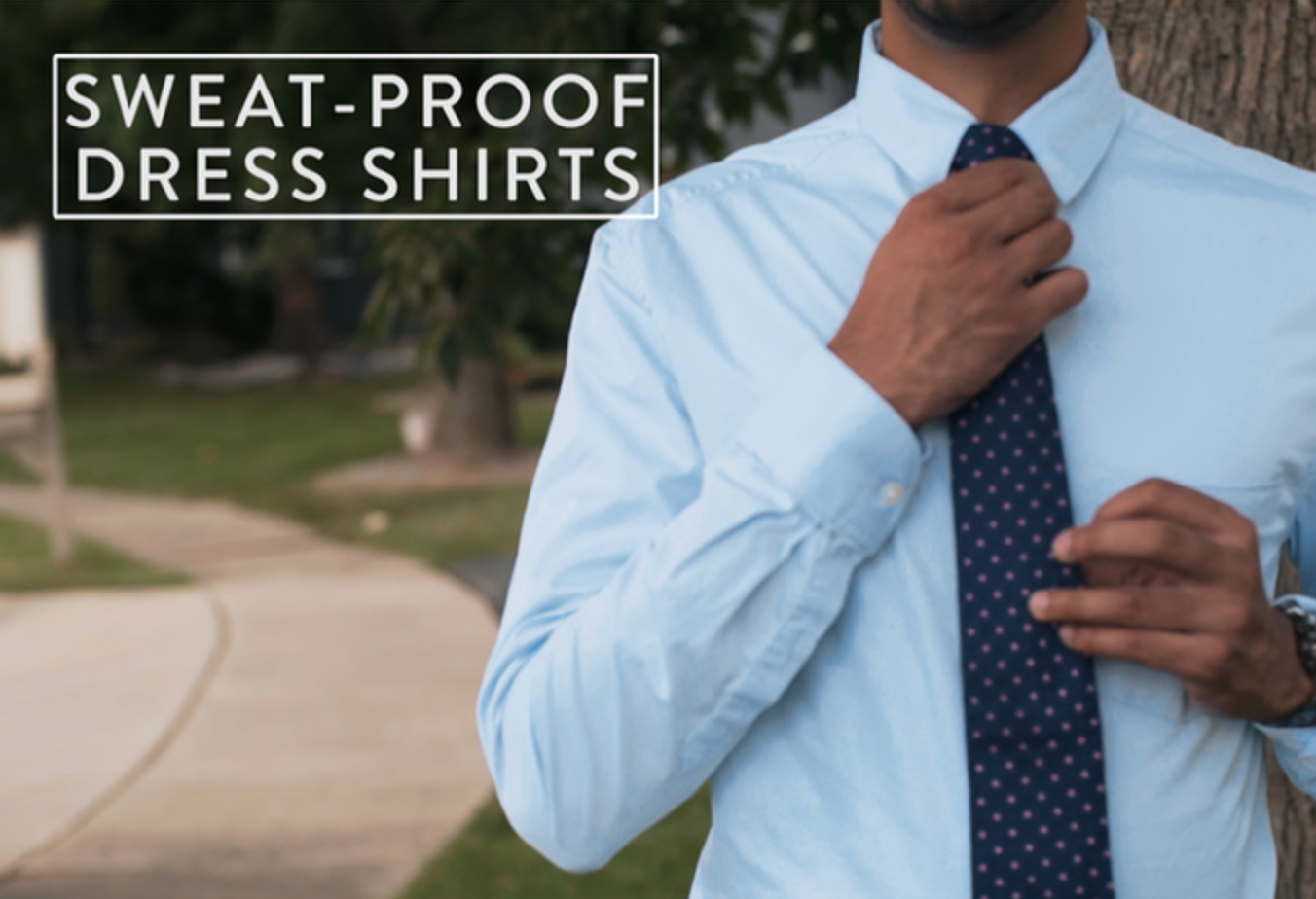 the world s first sweat proof dress shirt keeps wearers