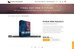 FCPX Plugin - Pro3rd Web Volume 5 - Pixel Film Studios