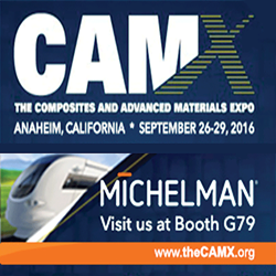 Michelman Featuring New Fiber Sizing and Interface Adhesion Technologies at CAMX 2016