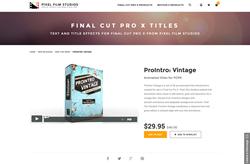 Pixel Film Studios Plugin - ProIntro Vintage - Final Cut Pro X