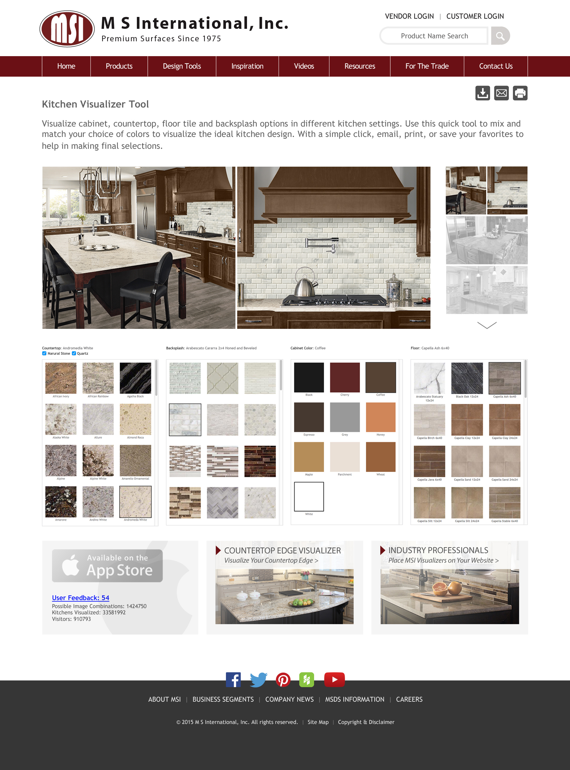 M s international inc announces updates to its virtual for Virtual kitchen designer