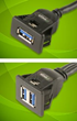 "USB 3.0 Panel Mount ""Snap-In"" Extension Cables"