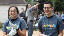 Volunteers at the Kenilworth Aquatic Gardens