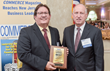 Photo Caption:  Larry Feld, Director of Marketing for the Fair Lawn, NJ-based CPA firm Hunter Group, accepts the 2016 Best Practices Award from CIANJ Chairman Martin Kafafian during the Best Practices Leadership Conference held recently at Nanina's In-The