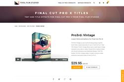 Final Cut Pro X Plugin - Pro3rd Vintage - Pixel Film Studios