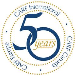 CARF's 50th anniversary logo