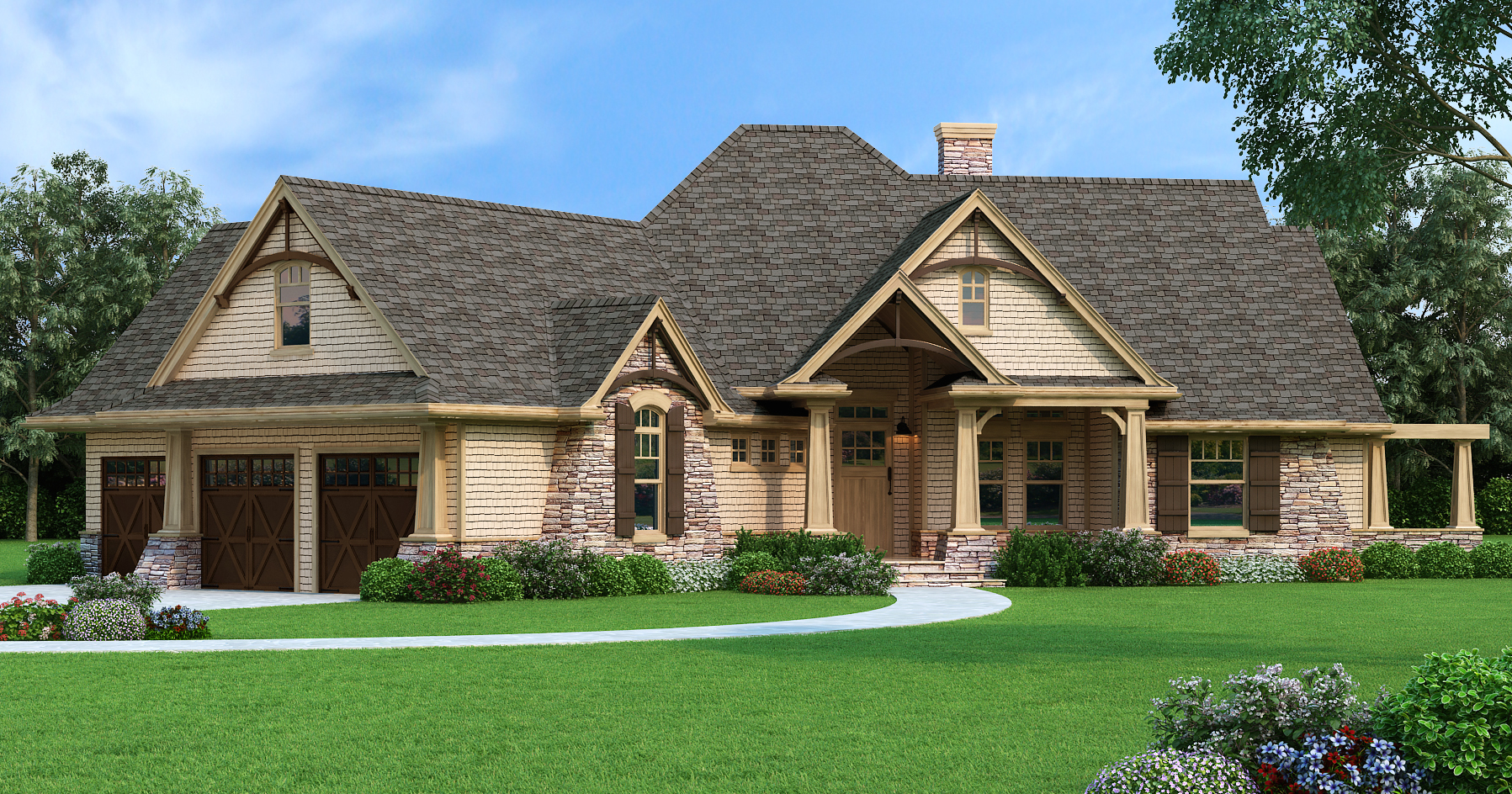 The house designers showcases popular house plan in for Best craftsman house plans
