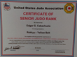 Edgar Cabachuela, USJA Yellow Belt Certificate Promotion
