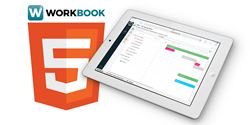 WorkBook Version 9 iPad Logo