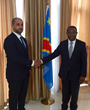 KP Chair Ahmed Bin Sulayem with DRC Minister of Economy H.E. Bahati Lukwebo Modeste