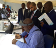 KP Chair tours Kinshasa Secure Diamond Facility with Pascal Nyembo Muyumba DDG of CEEC DRC