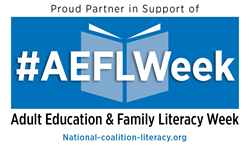 National Adult Education and Family Literacy Week is September 26–October 1 .
