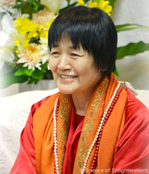 Himalayan Master Yogmata Keiko Aikawa at the Yoga and the UN Culture of Peace conference in NY and LA